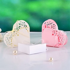 Elegant Heart-shaped Favor Boxes With Ribbons (Set of 12)