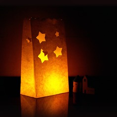 Star design Paper Luminary (set of 4)