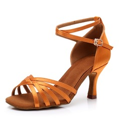 Women's Silk Latin With Buckle Dance Shoes