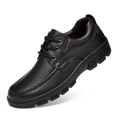 Men's Real Leather U-Tip Casual Men's Oxfords