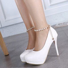 Women's Leatherette Stiletto Heel Pumps Platform shoes