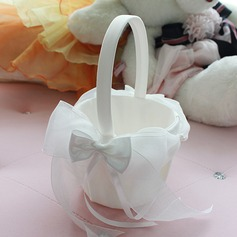 Beautiful Flower Basket in Chiffon With Bow
