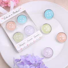 Button design Fridge Magnets (Set of 4 pieces)