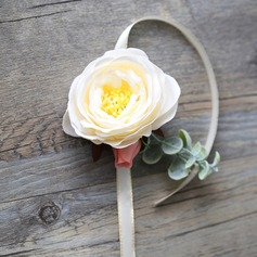 Lovely Hand-tied Satin Wrist Corsage (Sold in a single piece) - Wrist Corsage
