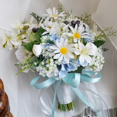Sweet Hand-tied Artificial Silk Bridal Bouquets -