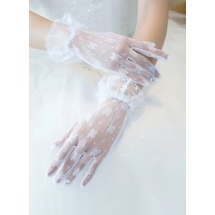 Lace Wrist Length Bridal Gloves (014205752)
