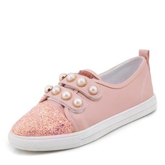 Women's Leatherette With Imitation Pearl Sneakers & Athletic