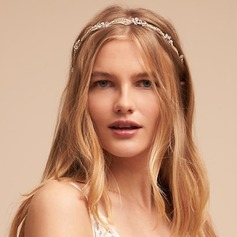 Ladies Glamourous Alloy Headbands With Crystal (Sold in single piece)