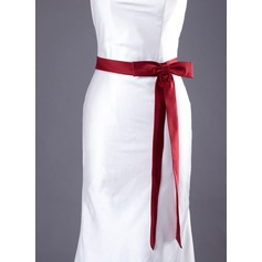 Simple Satin Sash With Bow (015033830)