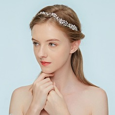 Ladies Nice Alloy Headbands With Rhinestone/Venetian Pearl (Sold in single piece)