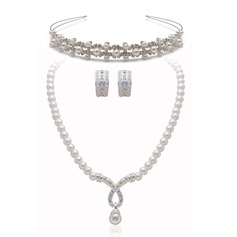 Elegant Alloy/Pearl With Rhinestone Women's Jewelry Sets
