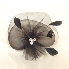 Dames Élégante Feather/Fil net Chapeaux de type fascinator/Chapeaux Tea Party