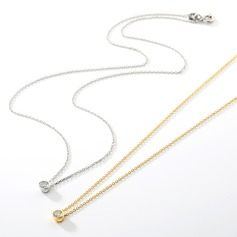 Unique Gold Plated Zircon Silver With Zircon Ladies' Fashion Necklace (Sold in a single piece)
