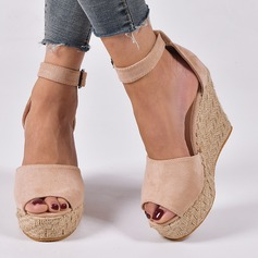 Women's Suede Wedge Heel Wedges shoes