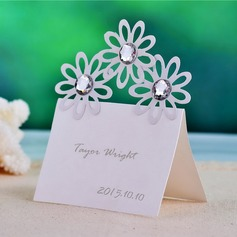 Flower Design Pearl Paper Place Cards (set of 12)