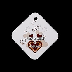 Personalized Heart design Hard Card Paper Tags (Set of 36)