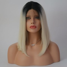 Straight Syntetisk Lace Front Parykar 220g