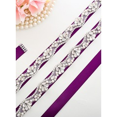 Beautiful Satin Sash With Rhinestones (015205486)