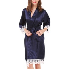 Charmeuse Bride Bridesmaid Mom Lace Robes (248197027)