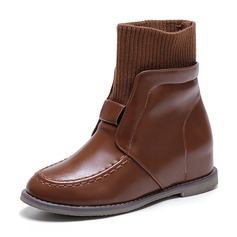 Women's PU Wedge Heel Boots Mid-Calf Boots With Others shoes