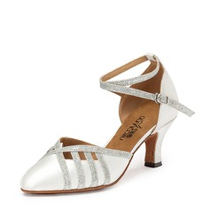 Women's Satin Heels Ballroom Dance Shoes (053151571)