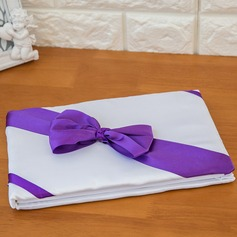 Flowers Design Bow/Sash Guestbook & Pen Set