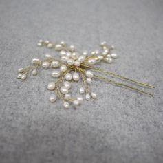 Ladies Gorgeous Alloy/Imitation Pearls Hairpins With Venetian Pearl (Sold in single piece)