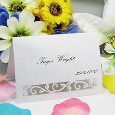 Pierced Flower Vine Pearl Paper Place Cards (set of 12)