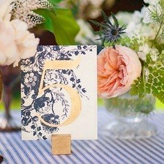 Beautiful Pretty Wooden Place Cards (Sold in a single piece)