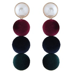 Fashional Alloy Imitation Pearls Cloth With Imitation Pearl Women's Fashion Earrings (Set of 2) (137152524)