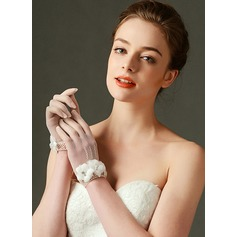 Lace Wrist Length Bridal Gloves (014124439)