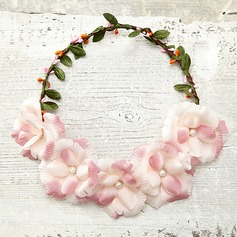 Charming Imitation Pearls/Artificial Silk/Foam Flowers & Feathers/Headbands