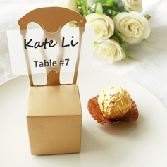 50th Anniversary Gold Chair Favor Box and Place Card Holder (Set of 12)