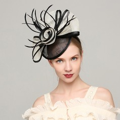 Ladies' Elegant Cambric/Feather With Feather Fascinators/Kentucky Derby Hats/Tea Party Hats