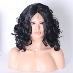 Loose Wavy Synthetic Hair Lace Front Wigs 220g