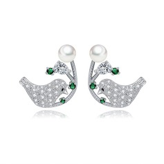 Charmant Alliage/Zircon de Dames Boucles d'oreilles