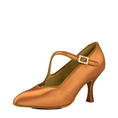 Women's Satin Silk Ballroom Dance Shoes