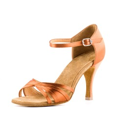 Satin Sandals Latin Dance Shoes