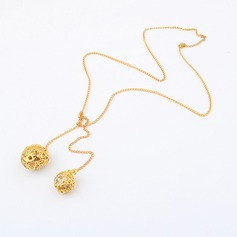 Hollow-Out Alloy Women's Necklaces
