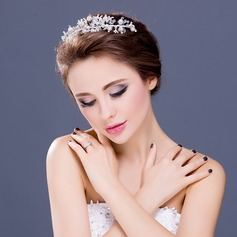 Glamourous Crystal/Imitation Pearls/Silver Plated/Czech Stones/Austrian Crystal Headbands (042066415)