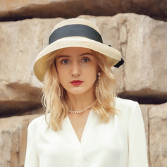 Ladies' Glamourous/Elegant Polyester With Bowknot Beach/Sun Hats