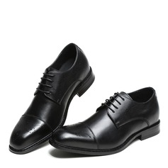 Men's Real Leather Cap Toes Lace-up Dress Shoes Men's Oxfords (259171636)