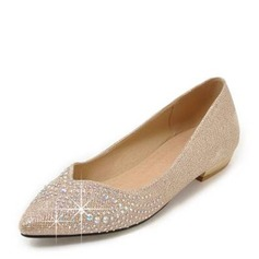 Women's Leatherette Low Heel Closed Toe Flats With Others