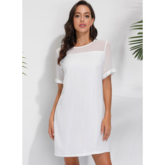 Shift Round Neck Polyester Dresses (293237699)