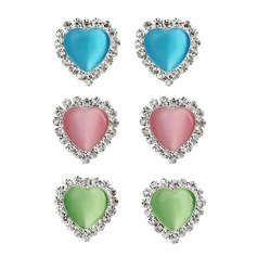 Heart Shaped Resin Metal Ladies' Fashion Earrings