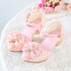 Flicka Stängt Toe konstläder Flower Girl Shoes med Bowknot