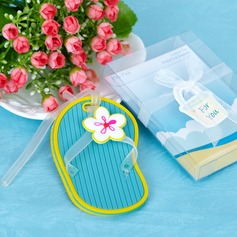 Shoes Design Rubber Luggage Tags With Ribbons/Tag