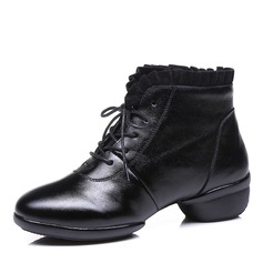Women's Real Leather Lace Sneakers Modern Sneakers Ballroom Dance Shoes
