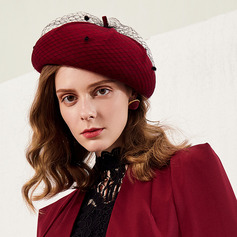 Ladies' Eye-catching/Nice/Charming/Romantic Wool With Tulle Beret Hats