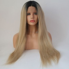 Straight Syntetisk Lace Front Parykar 340g